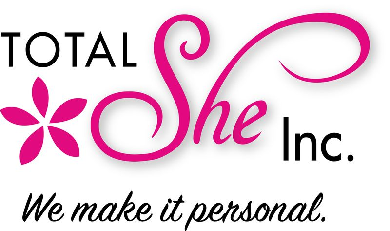 Total She We Make it Personal LOGO - 2 colour