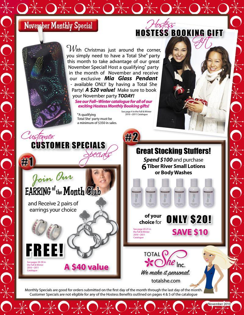November 2010 Specials